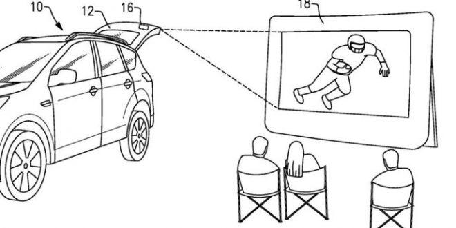 Ford si nechal patentovat mobilní letní kino pro všechny